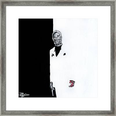 C3pacino - Scar Arm Framed Print by Tom Carlton