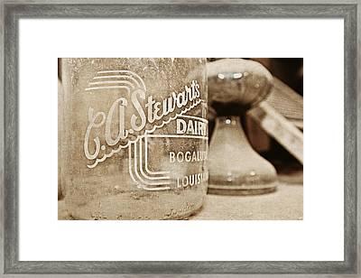 C.a. Stewart's Dairy Milk Jug Framed Print by Scott Pellegrin