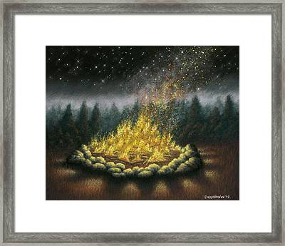 Campfire 01 Framed Print