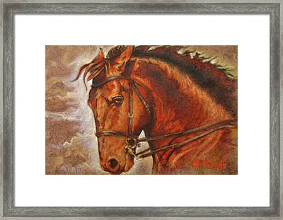 Caballo I Framed Print by J- J- Espinoza