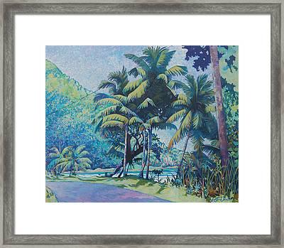 Cabana Beach Framed Print