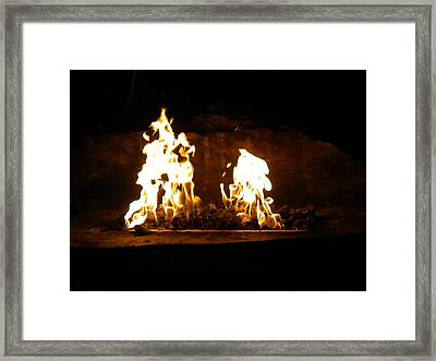 Cabana Fire  Framed Print