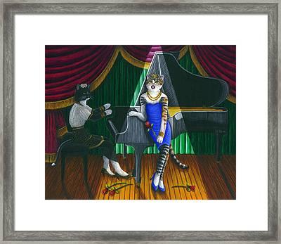 Cabaret Cats Framed Print by Carol Wilson
