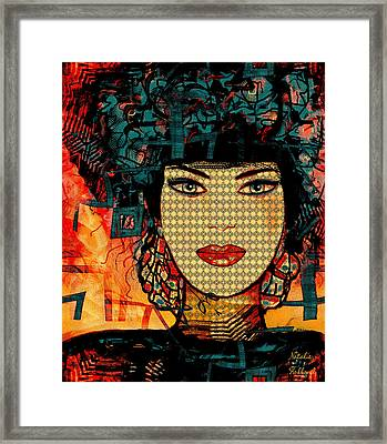 Cabaret Girl Framed Print by Natalie Holland