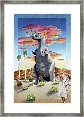 Cabazonasaur Framed Print by Snake Jagger