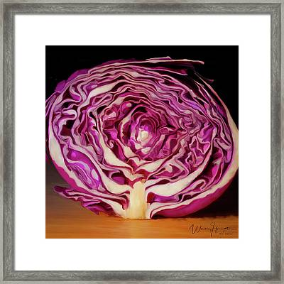 Cabbage 01 Framed Print by Wally Hampton