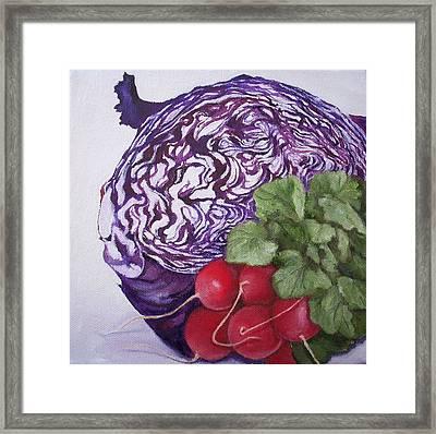 Cabbage Maze Framed Print