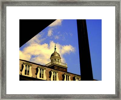 Cabildo Cupola Jackson Square Framed Print by Ted Hebbler