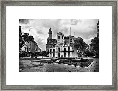 Cabildo De Buenos Aires Framed Print by Hans Wolfgang Muller Leg