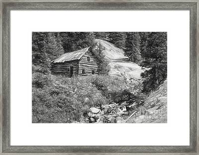 Cabin Along The Way Framed Print