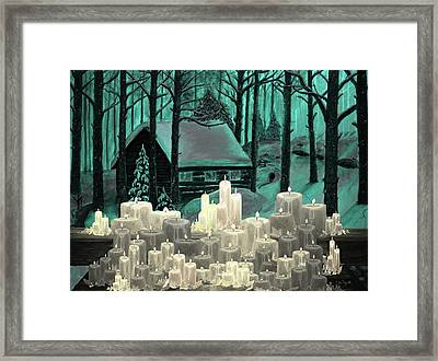 Cabin And Candles Framed Print by Ken Figurski
