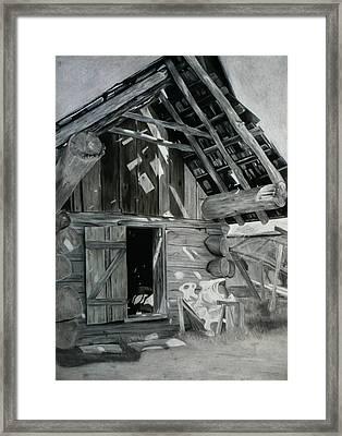 Cabin Barn Framed Print