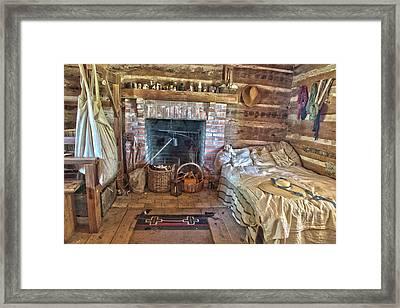 Cabin Bedroom Framed Print