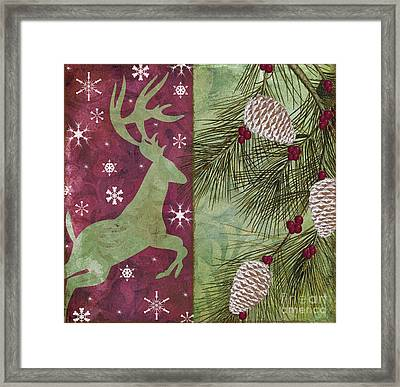 Cabin Christmas II Framed Print by Mindy Sommers