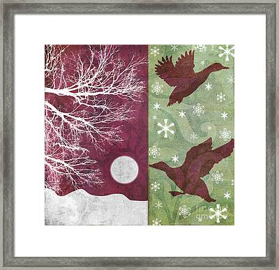 Cabin Christmas Iv Framed Print by Mindy Sommers