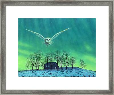 Cabin Comfort Framed Print by James W Johnson