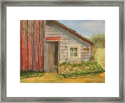 Cabin Fever Framed Print by Ally Benbrook