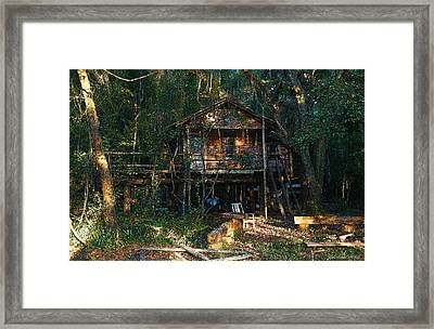 Cabin Fever Watercolor Framed Print by Joseph G Holland