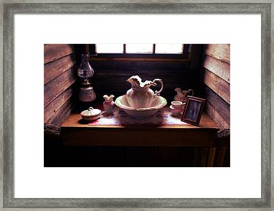 Cabin Grooming Still Life Framed Print by Stacie Siemsen