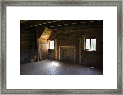 Cabin Home Framed Print by Ricky Dean