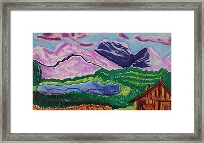 Cabin In The Mountains Framed Print by Don Koester