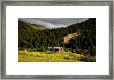 Cabin In The Rockies Framed Print by Mountain Dreams