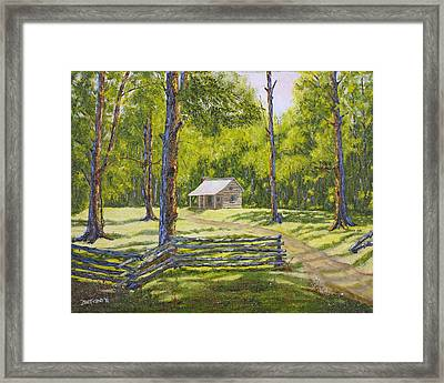 Cabin In The Smokies Framed Print by  Jude  Trafficano