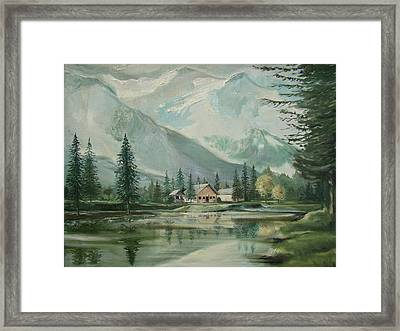 Cabin In The Valley Framed Print by Charles Roy Smith