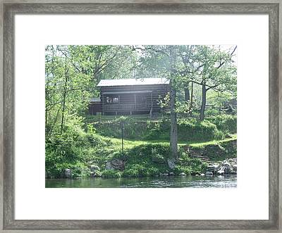 Cabin In The Woods Framed Print by Ann Robinson