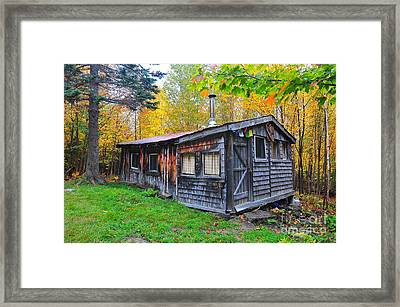Cabin In The Woods  Framed Print by Catherine Reusch Daley