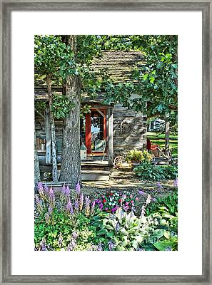 Cabin In The Woods Framed Print by Jimmy Ostgard