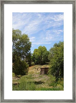 Cabin In The Woods Framed Print by Joseph Frank Baraba
