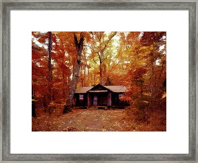 Cabin In The Woods P D P Framed Print