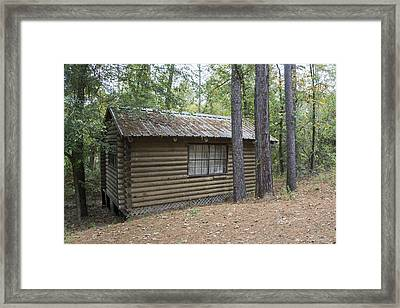 Cabin In The Woods Framed Print by Ricky Dean