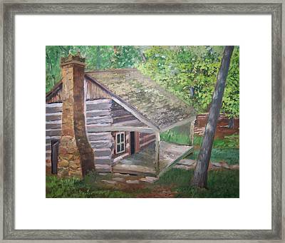 Cabin In The Woods Framed Print by Ron Bowles