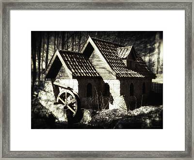 Cabin In The Woods Framed Print by Wim Lanclus