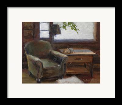 Log Cabin Interiors Framed Prints