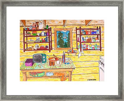Cabin Kitchen Framed Print