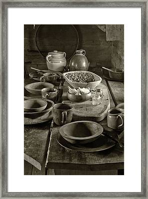 Cabin Kitchen Table Framed Print