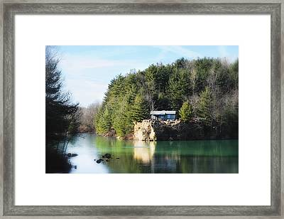 Cabin On The Lake Framed Print