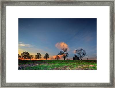 Cabin On The Ridge In Valley Forge Framed Print