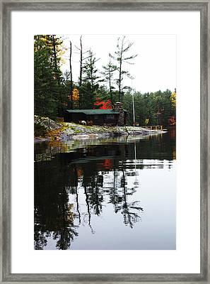 Cabin On The Rocks Framed Print