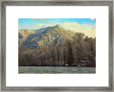 Cabin On The Skagit River Framed Print