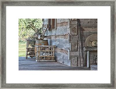Cabin Porch1 Framed Print