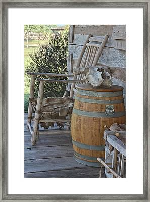 Cabin Porch2 Framed Print