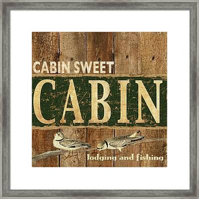 Cabin Sweet Cain Framed Print