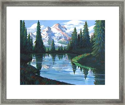Cabin View Framed Print by Jessica Ostrander