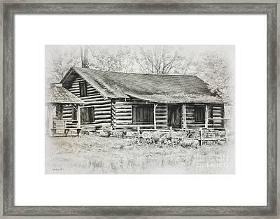 Cabin Vintage Framed Print by Korrine Holt