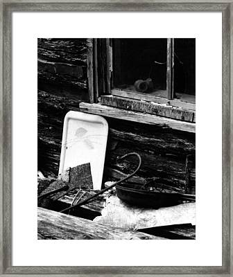 Cabin-window Framed Print