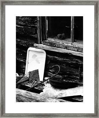 Cabin-window Framed Print by Curtis J Neeley Jr